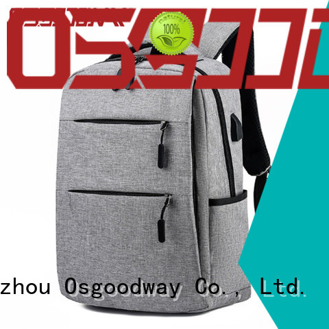 Osgoodway durable laptop charging backpack from China for business traveling