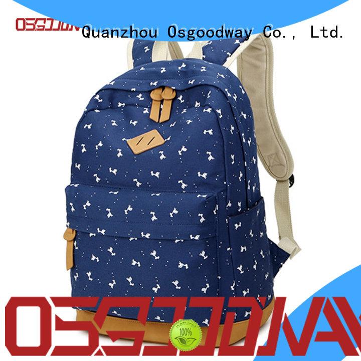 custom women backpack travel factory price for school