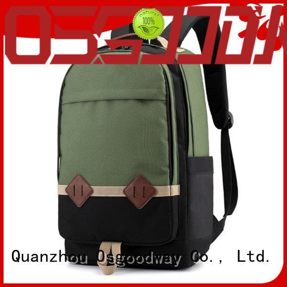 black mens canvas backpack online for business traveling Osgoodway