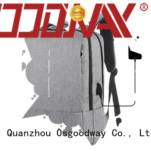 polyester antitheft laptop backpack supplier for work