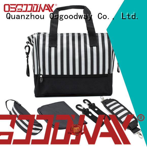 stylish canvas diaper bag manufacturer for baby care