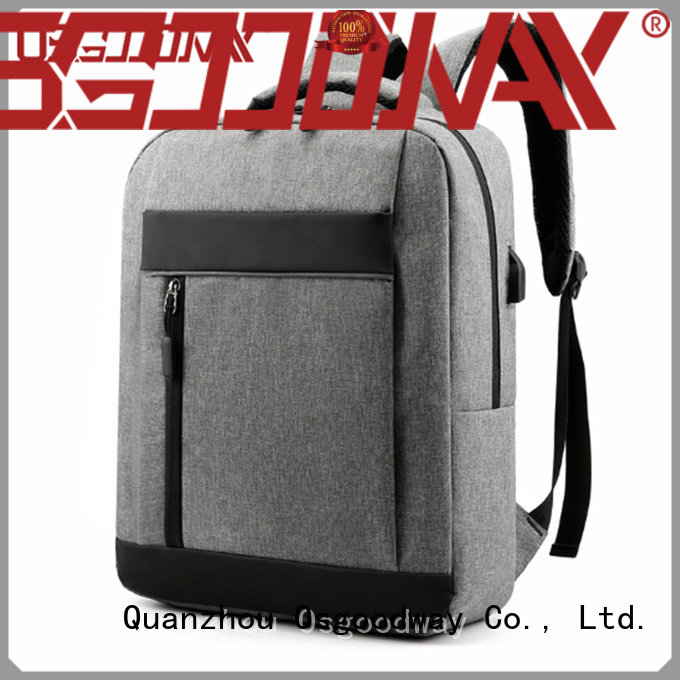 Osgoodway good quality canvas laptop backpack from China for school