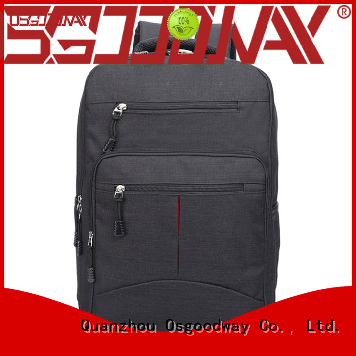 Osgoodway custom mens canvas backpack design for school