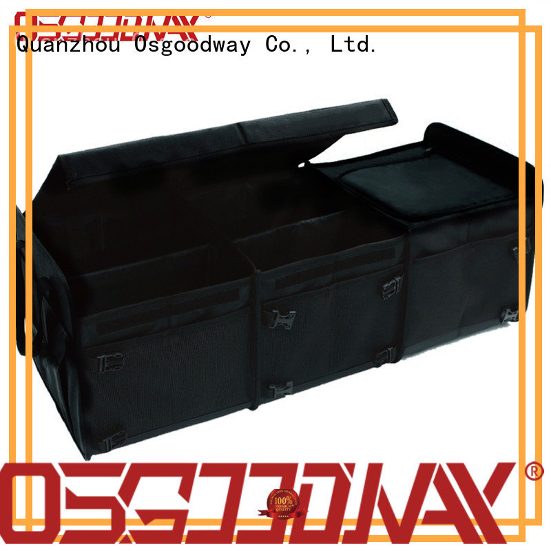 Sturdy Multipurpose Portable Folding Trunk Organizer with Collapsible Cooler Compartment and Foldable Cover