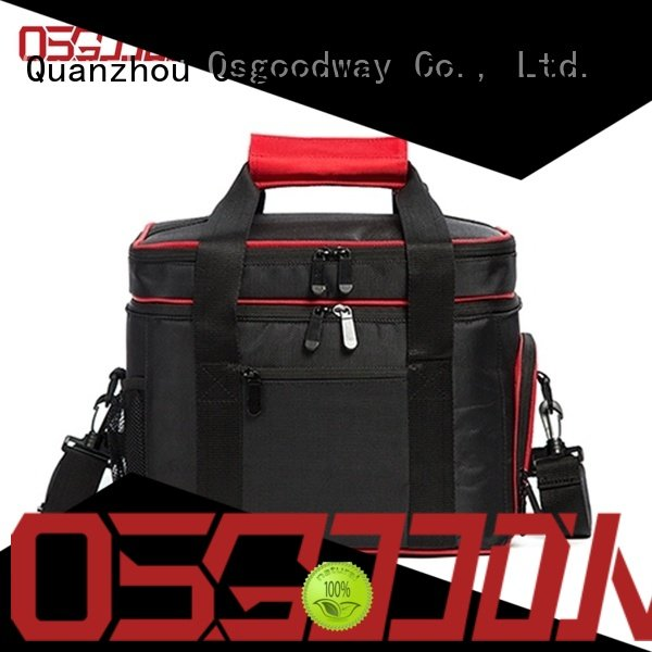 Double Deck Insulated Cooler Lunch Bag with Multiple Storage Pockets for Work and Family Outings