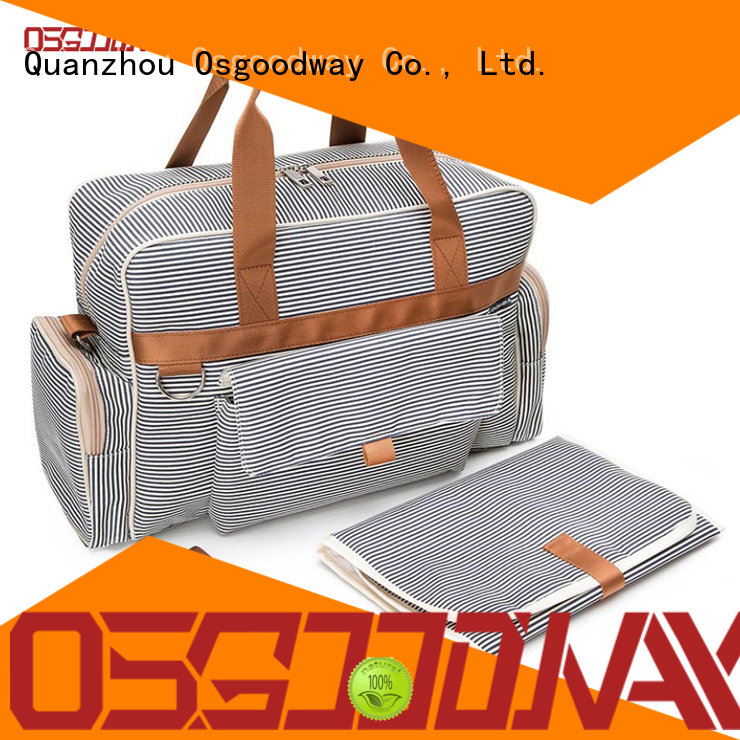 Osgoodway pattern diaper bag with changing pad wholesale for mom