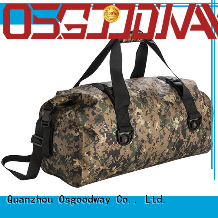 Customized Digital Camo Rolltop Dry Duffle Bag Large Wet Dry Gym Bag