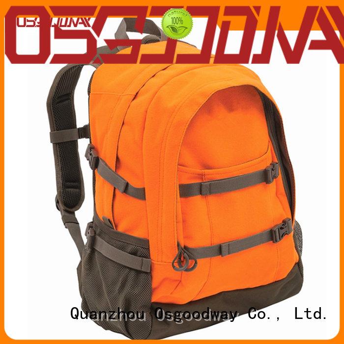 Osgoodway custom canvas backpack mens black for travel