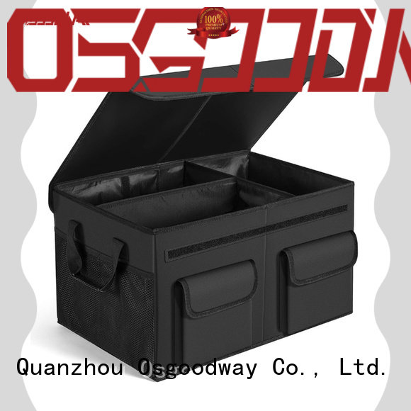Osgoodway bottom collapsible trunk organizer with cooler bag for suv
