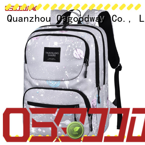 casual nylon backpack logo factory price for daily life