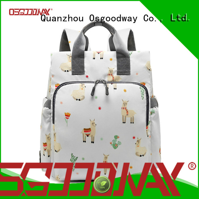 large capacity canvas diaper backpack manufacturer for mom